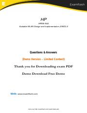 HPE6-A44 Latest Certification Tests 2018.pdf