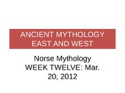 Ancient Myth 10.1 (Mar 20) Norse Mythology(1)
