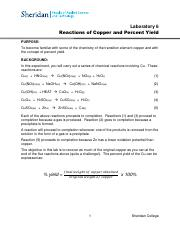 Laboratory 6_Reactions of Copper and Percent Yield.pdf