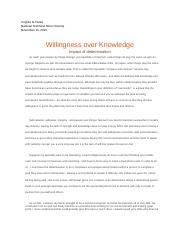Willingness over Knowledge.docx