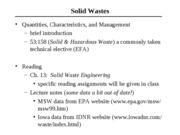 2011 Solid Wastes Notes