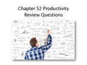 Study Guide - CH S2 Productivity Review Questions