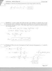 MATH 3650 Fall 2006 Midterm 1 Solutions