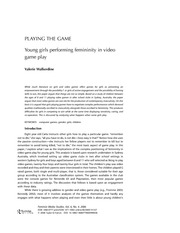 Wakerdine, Playing the Game - Youn Girls Performing Femininity in Video Game Play