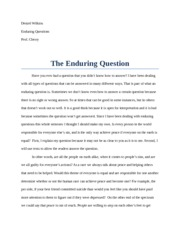 EQ- Enduring Question Paper