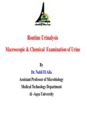 Macroscopic & Chemical  Examination of Urine(1) (1)
