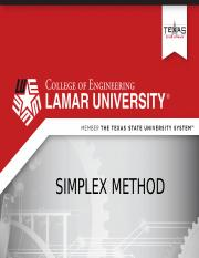 Week 14 Part 2 Simplex Method(1)