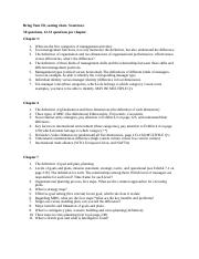 Exam 1 Mgmt Study Guide