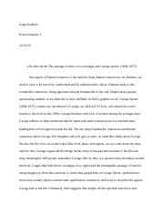 Final essay abstract