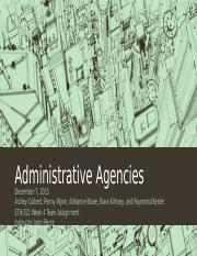 2015 12-7 Team A Administrative Agencies
