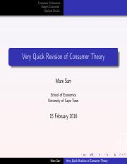 Revision Consumer Theory_Lecture Week 1