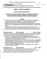 STS1037, Sample, Chronological Resume