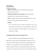 Long Paper Outline - Moral Responsibility