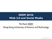 Lect11 Web 2.0 and Social Media