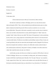 Motown Research Paper