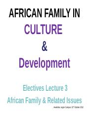 THE_AFRICAN_FAMILY_Lecture Three