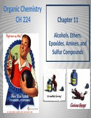 Chapter 11 - Alcohols, Ethers, Epoxides