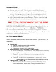 THE TOTAL ENVIRONMENT OF THE FIRM.docx