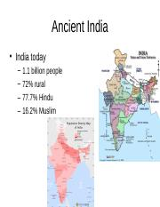 Lecture 3 - Ancient India