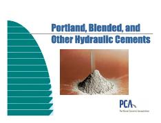 Portland,,blended and other hyraulic cement