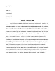eng grand canyon university course hero 1 pages colonizers expectations essay docx