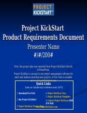 Project KickStart Product Requirements Document Project