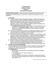Chapter 8 Lecture Notes (Tax Deferred Exchanges) Classroom Spring 2015