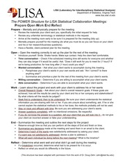 POWER Structure for LISA Statistical Collaboration Meetings_2014-09-18