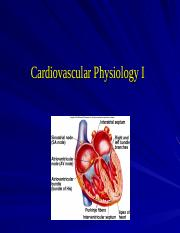 Lecture 8-Cardiovascular Physiology I