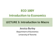 Lecture 3 notes on macroeconomics