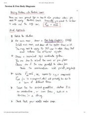 Newton and Free Body Diagrams Notes