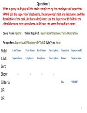Querying a Database Worksheet 6 Solution