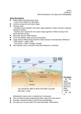 Module 4 - Shear Boundaries, Hot Spots, and Paleogeography