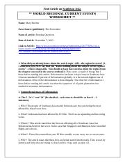 World Regional Article Worksheet (Southeast Asia).docx