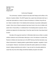Controversy Paragraph