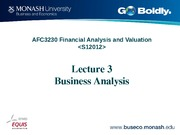 Lecture 3 AFC3230 business analysis