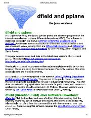 dfield and pplane (Java versions)