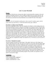 Lab 3 Lactate Threshold .docx