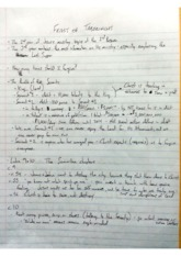 Class Notes - Feast of Tabernacles