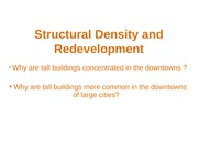 Structural Density and Redevelopment _