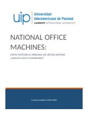 NATIONAL OFFICE MACHINES