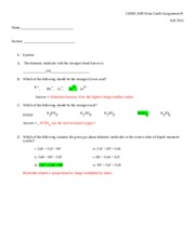CHEM 3100 Extra Credit Assignment 1 Key