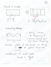 PHYS 100 Spring 2011 Sound in Matter Lecture Notes