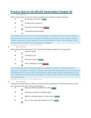 Practice Quiz for the NCLEX Examination Chapter 56