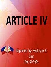 ARTICLE IV.pptx
