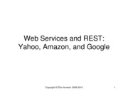 Notes 25 - Web Services
