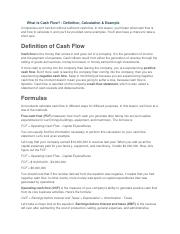 What Is Cash Flow.docx