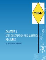 CHAPTER 1_Data description and numerical measure