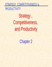 lecture 2 - Strategy , compet & productivity