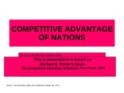 9 Notes of Porter's Diamond of National Advantage Global Strategy
